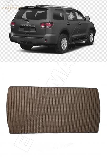 Toyota Sequoia II 7 мест 2008 - н.в. коврик в багажник мини EVA Smart