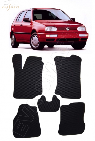 Volkswagen Golf III 1991 - 1997 коврики EVA Smart