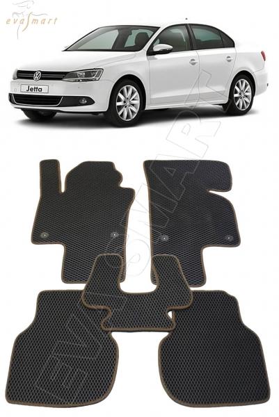 Volkswagen Jetta VI 2010 - н. в. Автоковрики 'EVA Smart'