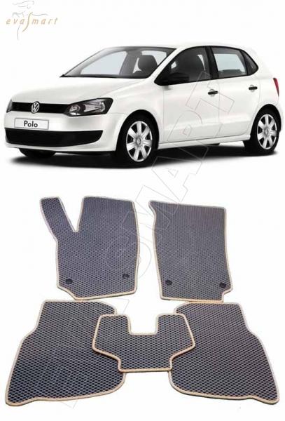 Volkswagen Polo V (хетчбек) 2010 - н. в. Автоковрики 'EVA Smart'